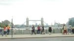 Tower Bridge of London with Olympic rings.