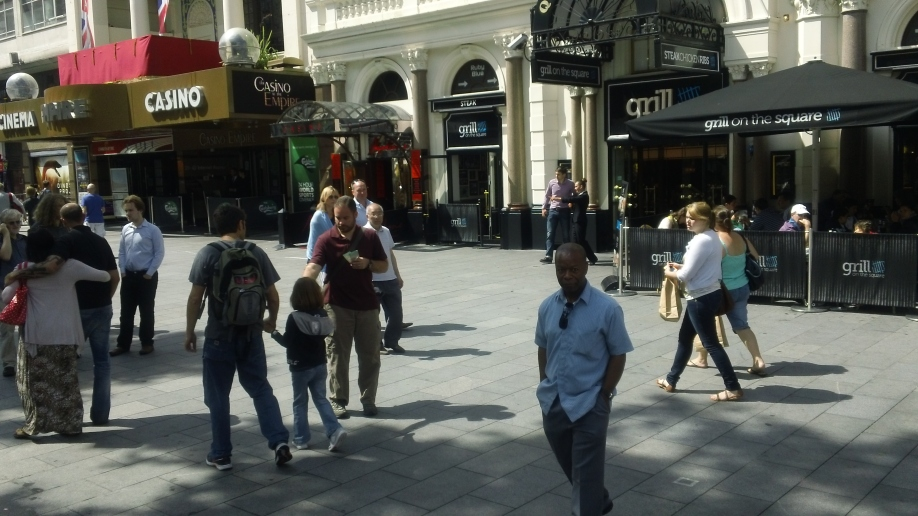 Greg handing out tracts in Westminster.