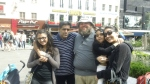 Bobby with the Muslim family in Piccadilly Circus.