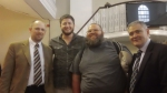 Me and Bobby with Pastors Tom Drion and Ross Orgill.