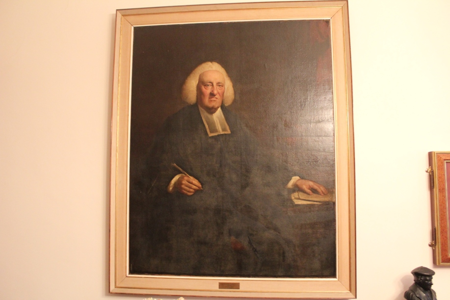 Ok friends, don't take offense, but this is funny. Dr. Master's shared with us that Spurgeon joked about this portrait of John Gill to say that he must have been looking at an Arminian when this was painted of him...LOL...it was really funny.