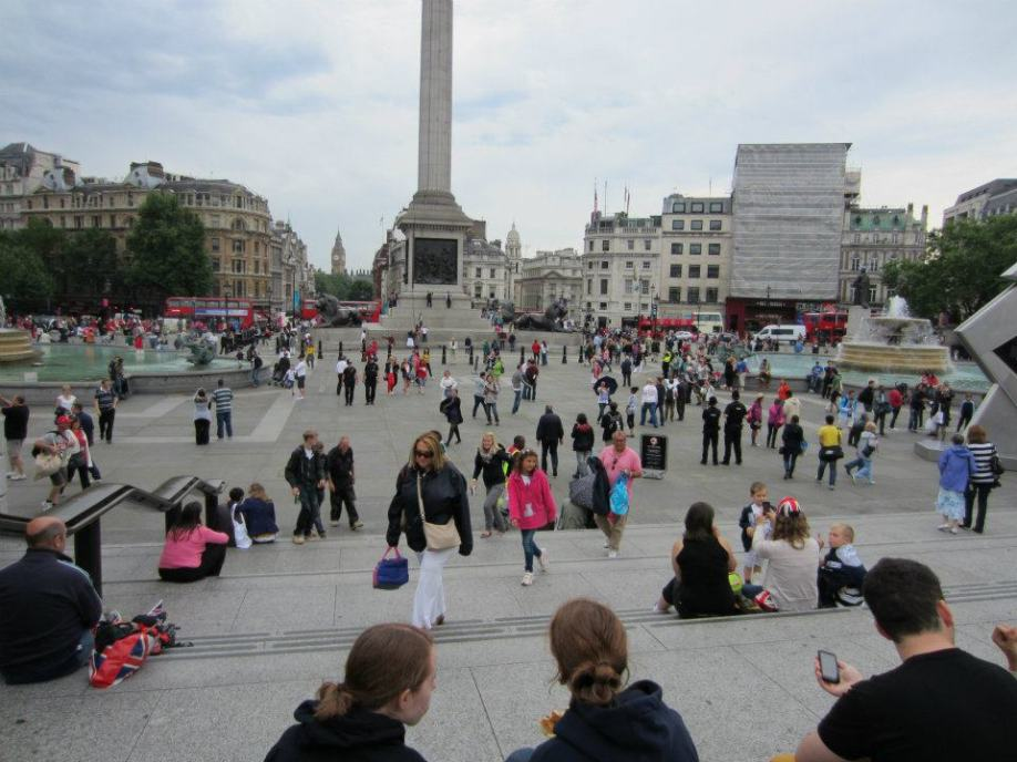 This is Trafalgar Square, where we met Patrik and Fahim.