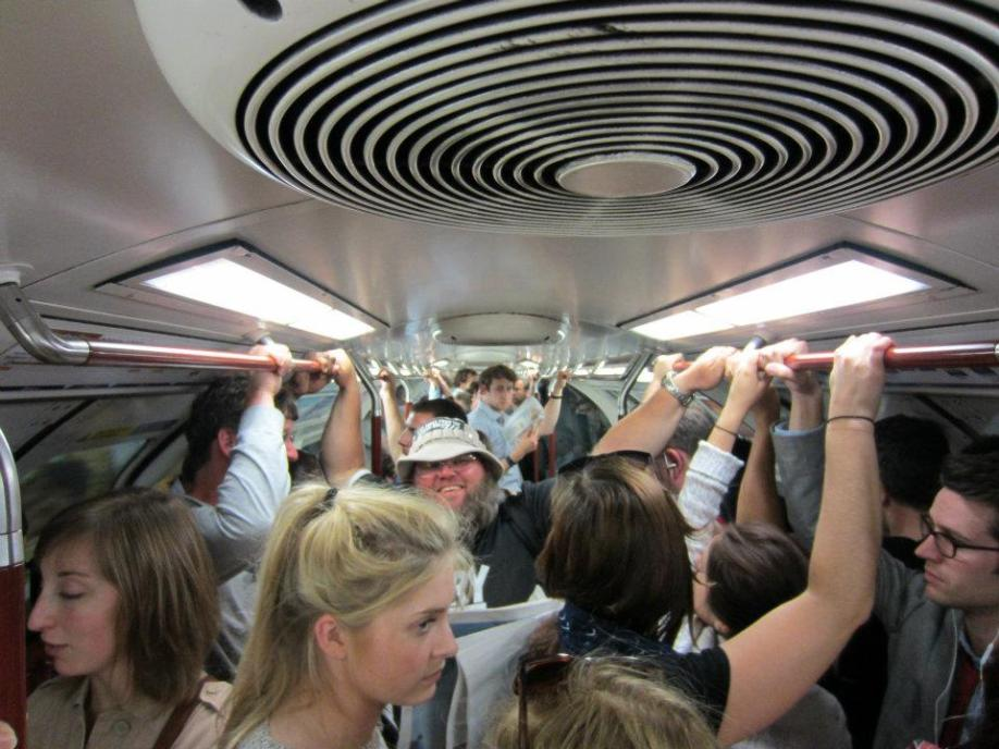 It's amazing how many people will cram on the tube.