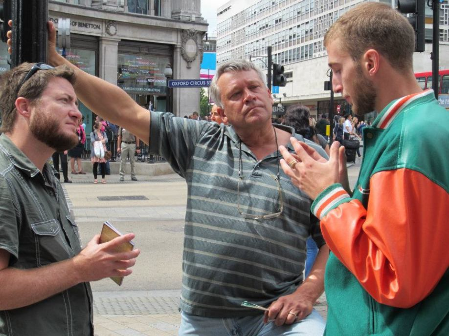"""This man listened to Tony preach for a while and said, """"this doesn't work!"""" The irony is the preaching led this man to have a lengthy and fruitful conversation with Scott and I. :-)"""